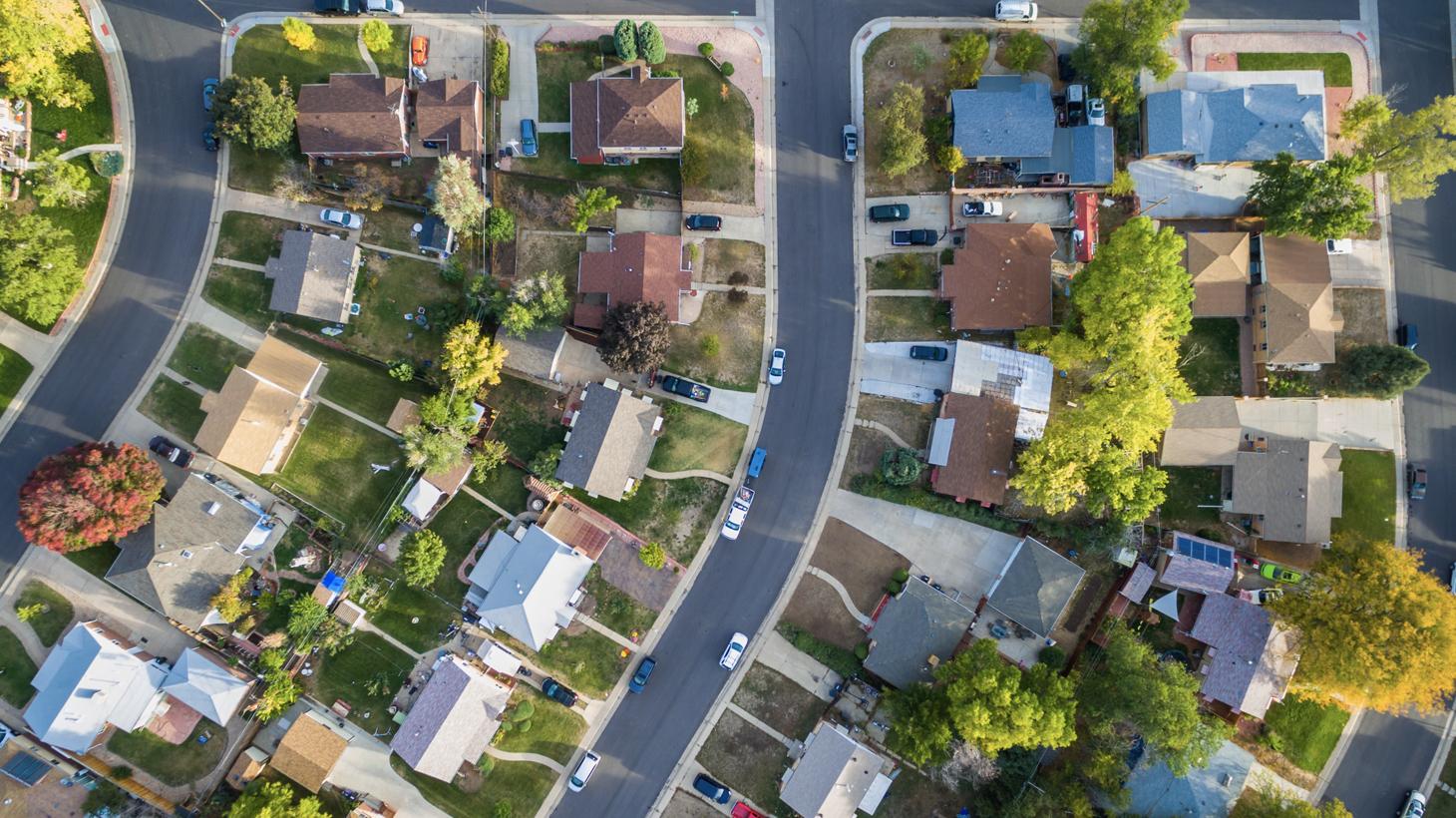 Aerial View of Growing Neighborhood